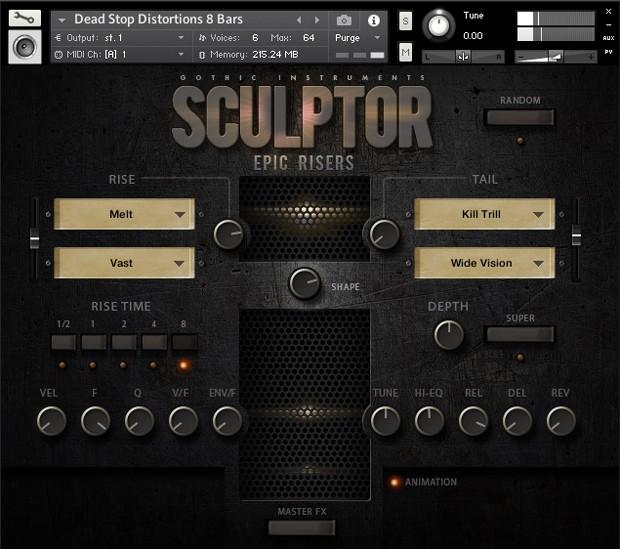 Sculptor Epic Risers GUI