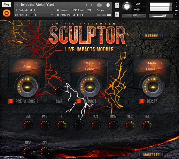 Sculptor Live Impact GUI