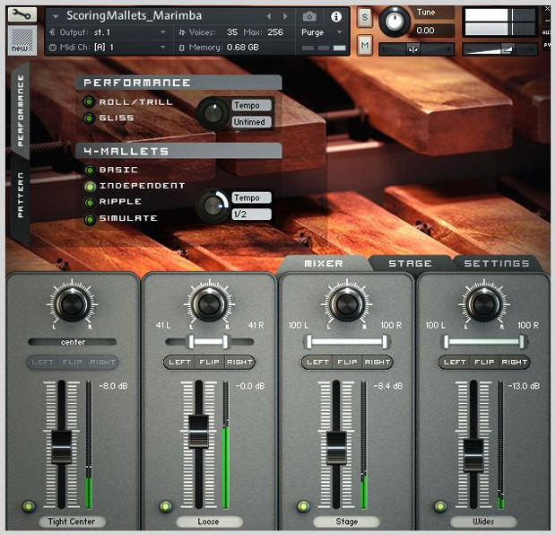 Mixer Screen