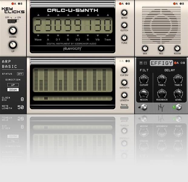 Calc-U-Synth GUI Screen