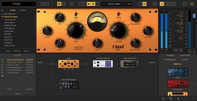 T-RackS 5 GUI Screen