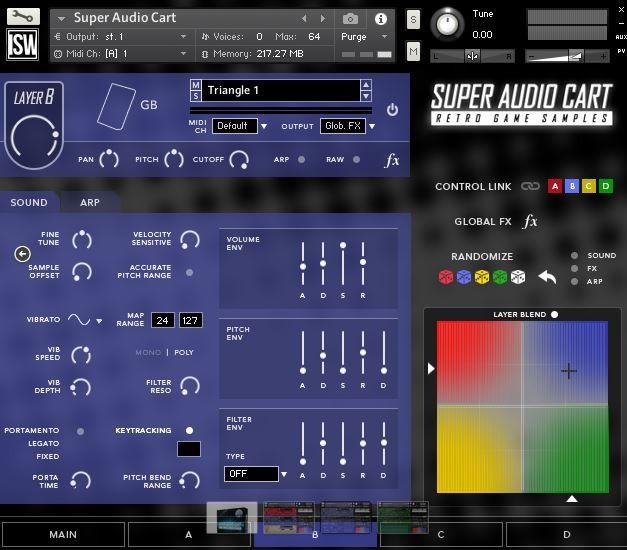 Super audio Cart Screen