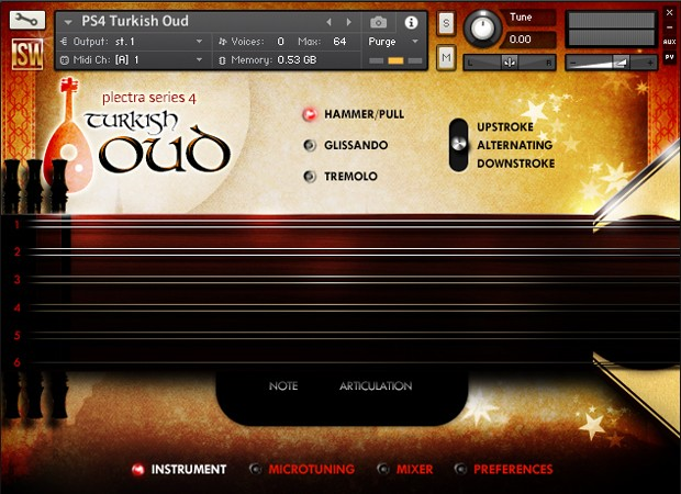 Turkish Oud GUI