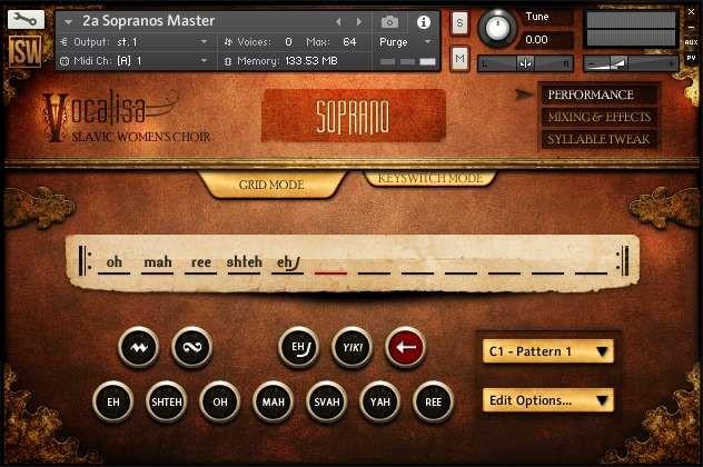 Vocalisa GUI Screen One