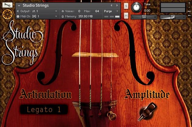Studio Strings Screenshot