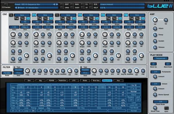 Blue II interface 1
