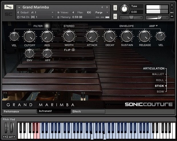 Grand Marimba Screen