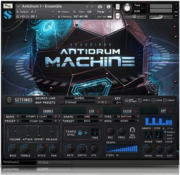 Antidrum Machine GUI Screen