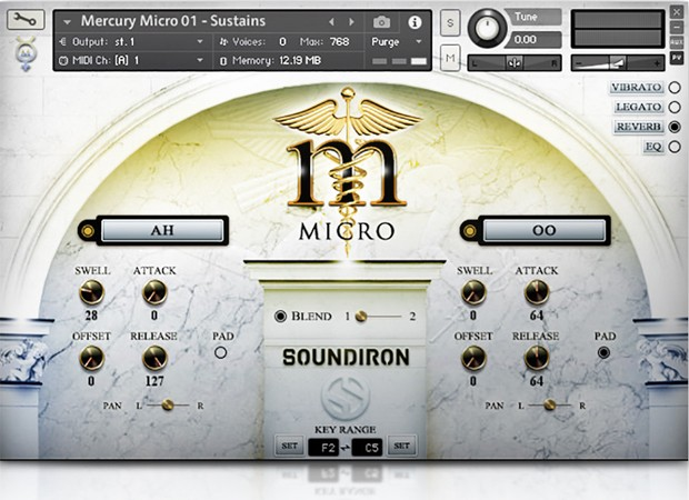 Mercury Micro GUI Scree