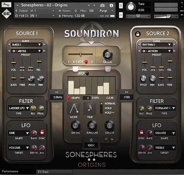 Sonespheres GUI Screen