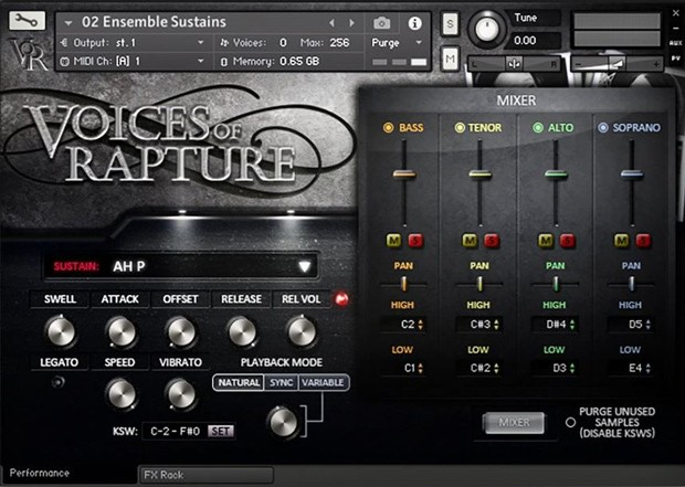 Voices of Rapture GUI Screen 2