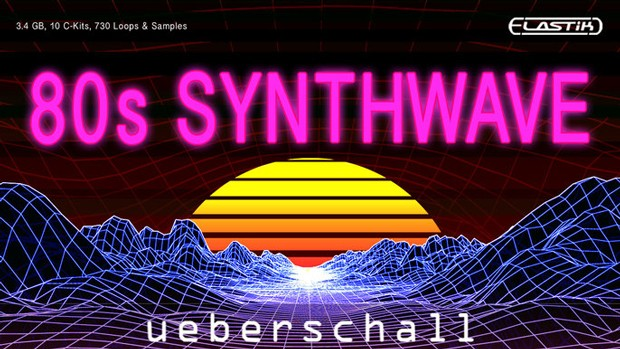 80s Synthwave Header