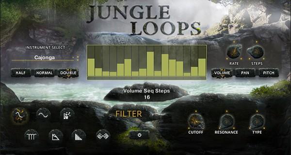 Jungle Loops GUI Screen