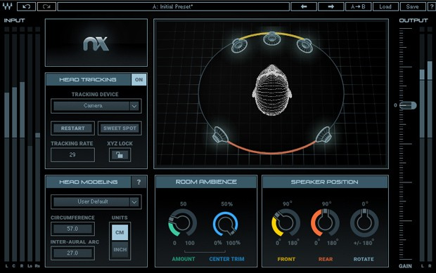 Waves Virtual Mix Room Screen