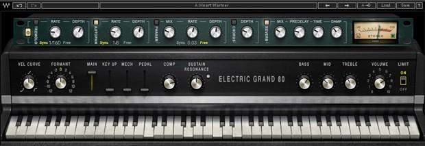Electric Grand 80 GUI Screen