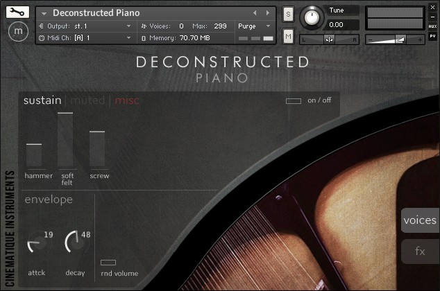 Deconstructed Piano GUI