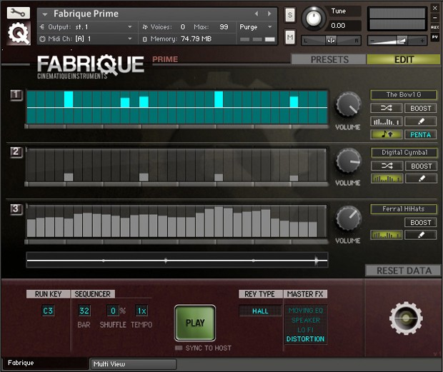 Fabrique GUI Screen 1
