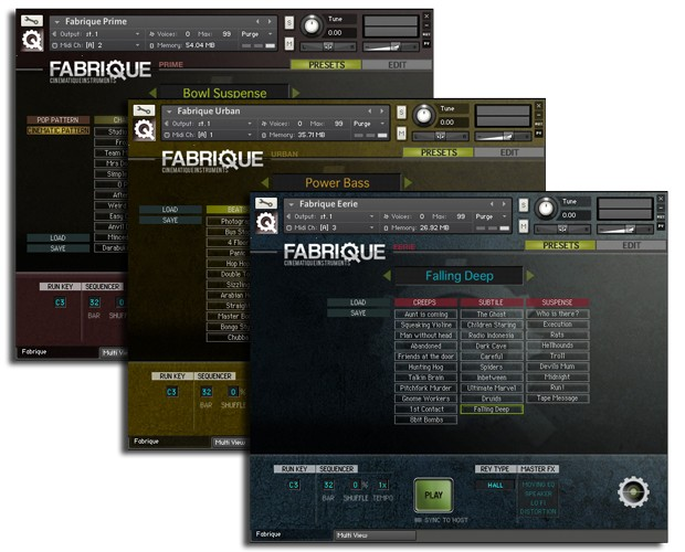 Fabrique GUI Overview