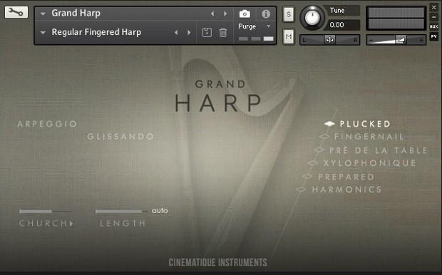 Grand Harp GUI