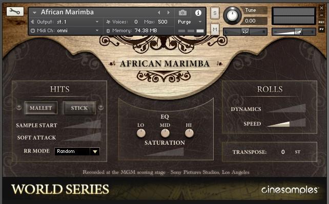 GUI Marimba