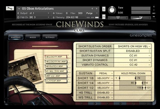 CineWinds Screen