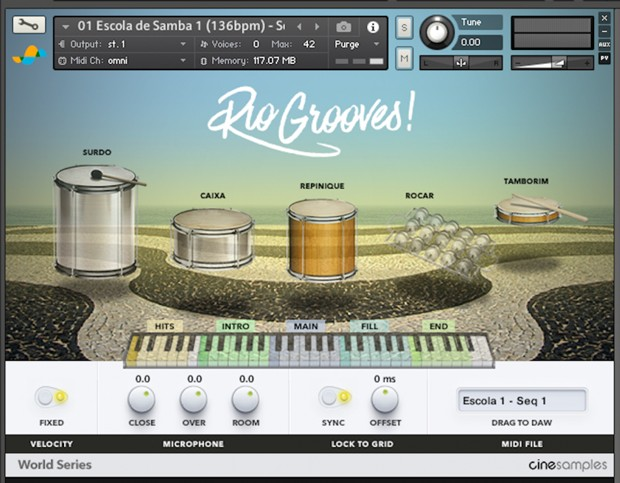 Rio Grooves Screen