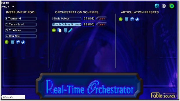Real Time Orchestrator GUI Screen