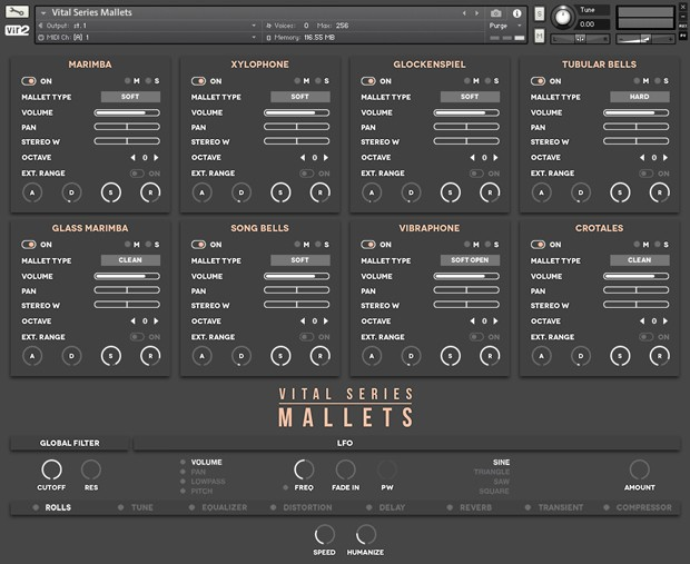 Vital Series Mallets GUI