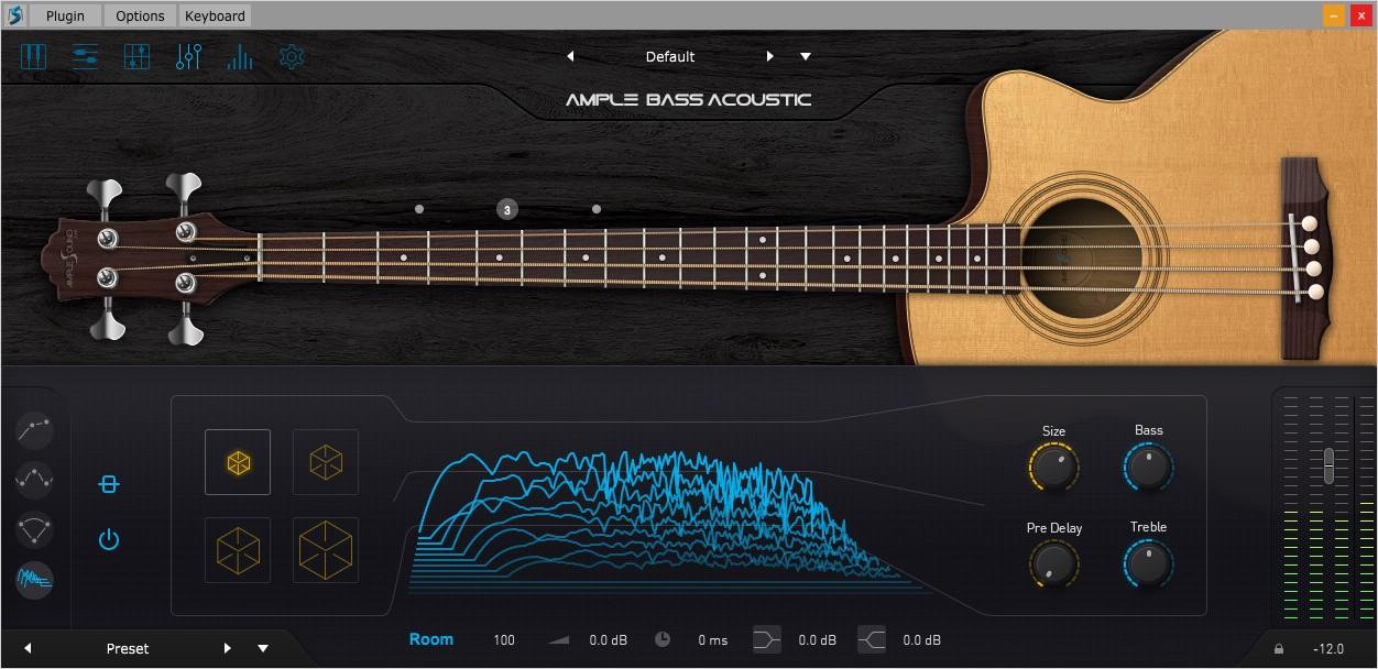 Acoustic Bass III FX GUI