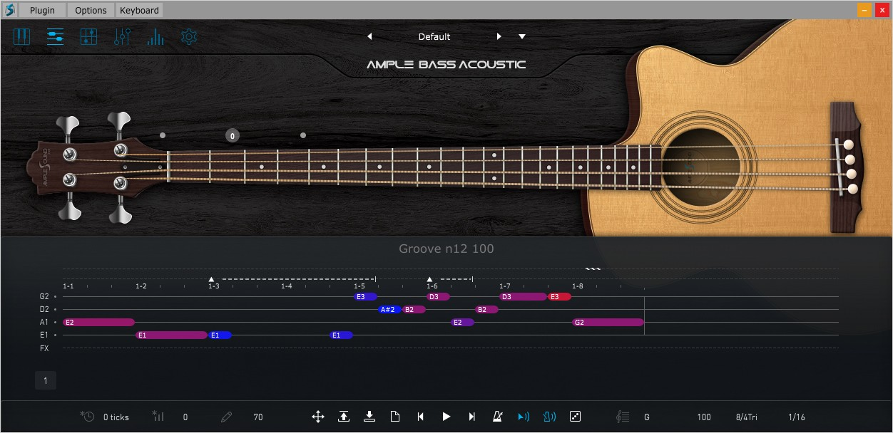 Acosutic Bass III Riffer GUI
