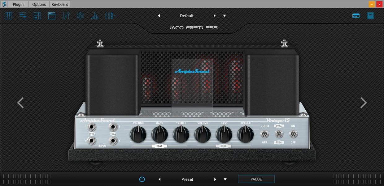 Ample Bass Jaco Amp Sim GUI