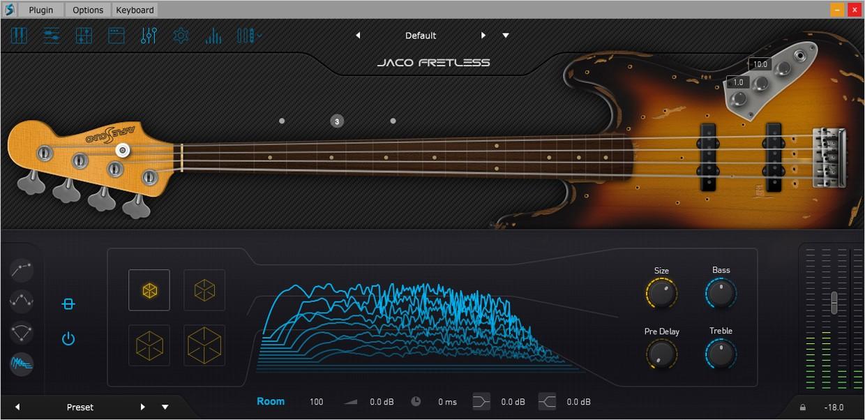 Ample Bass Jaco FX GUI