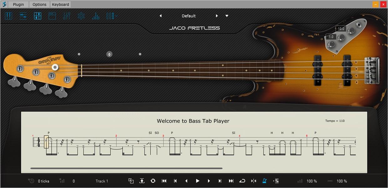 Ample Bass Jaco Tab GUI