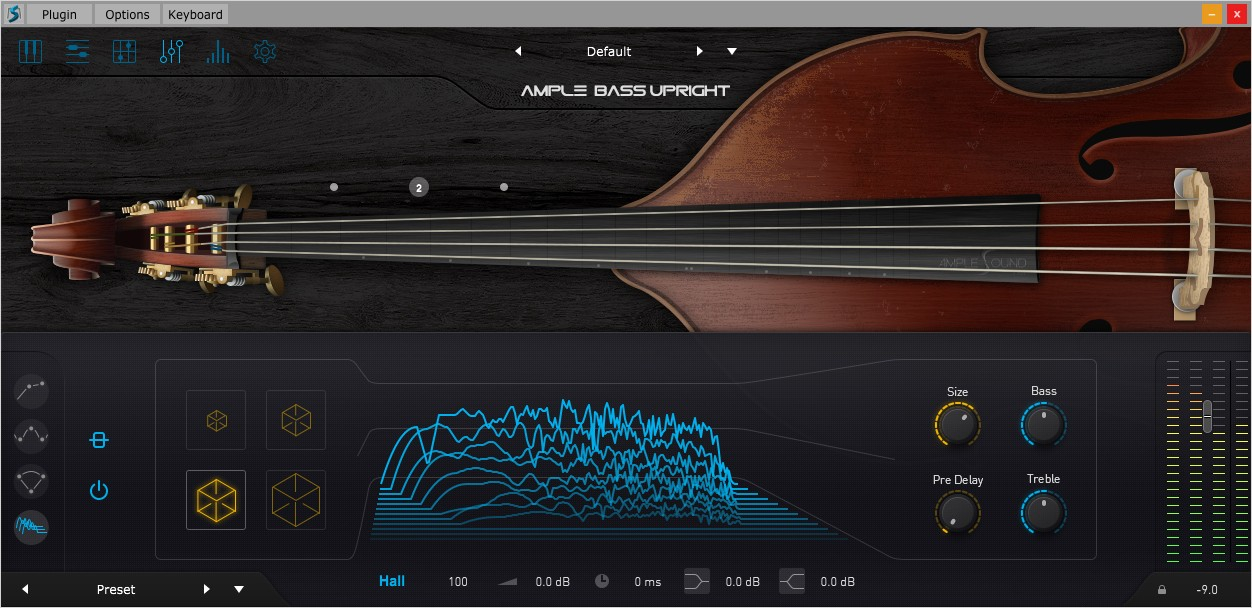 Upright Bass FX GUI