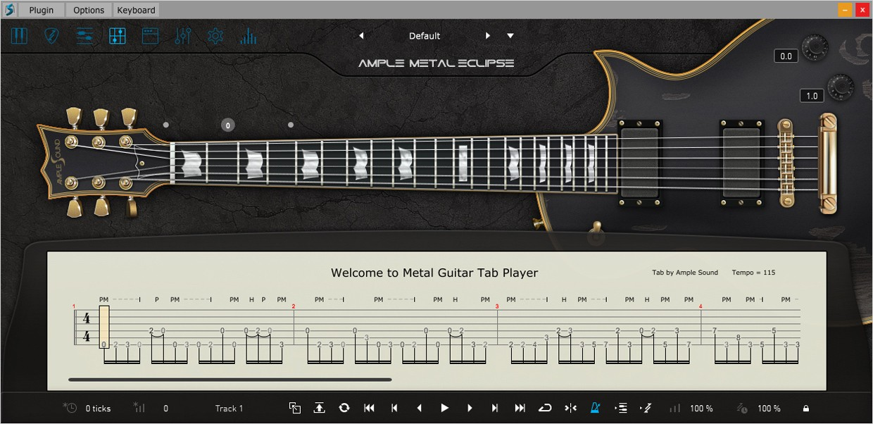 Ample Guitar Eclipse III Tab Reader GUI