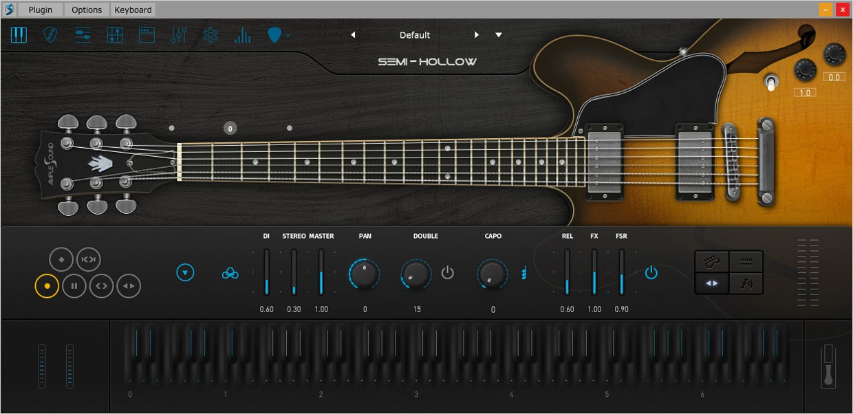 Ample Guitar Hollow III Main GUI