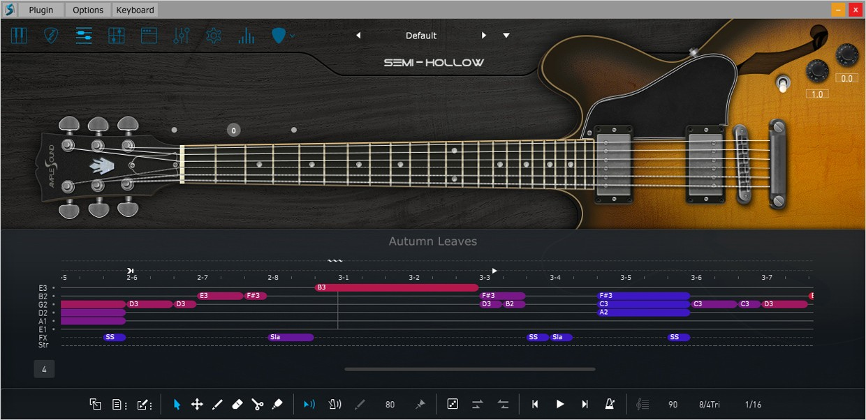Ample Guitar Hollow Riffer GUI