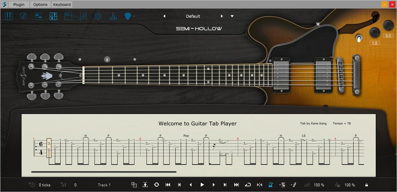 Ample Guitar Hollow Tab Reader GUI