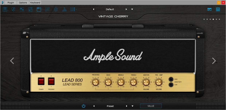Ample Guitar VC Amp Sim GUI