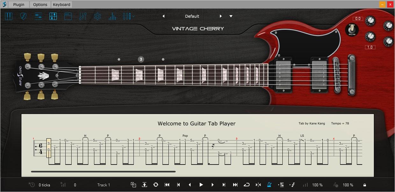 Ample Guitar VC Tab Reader GUI