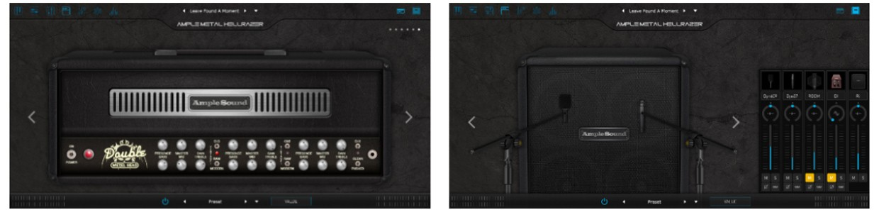 Ample Metal Hellrazor Amp and Cabinet GUI