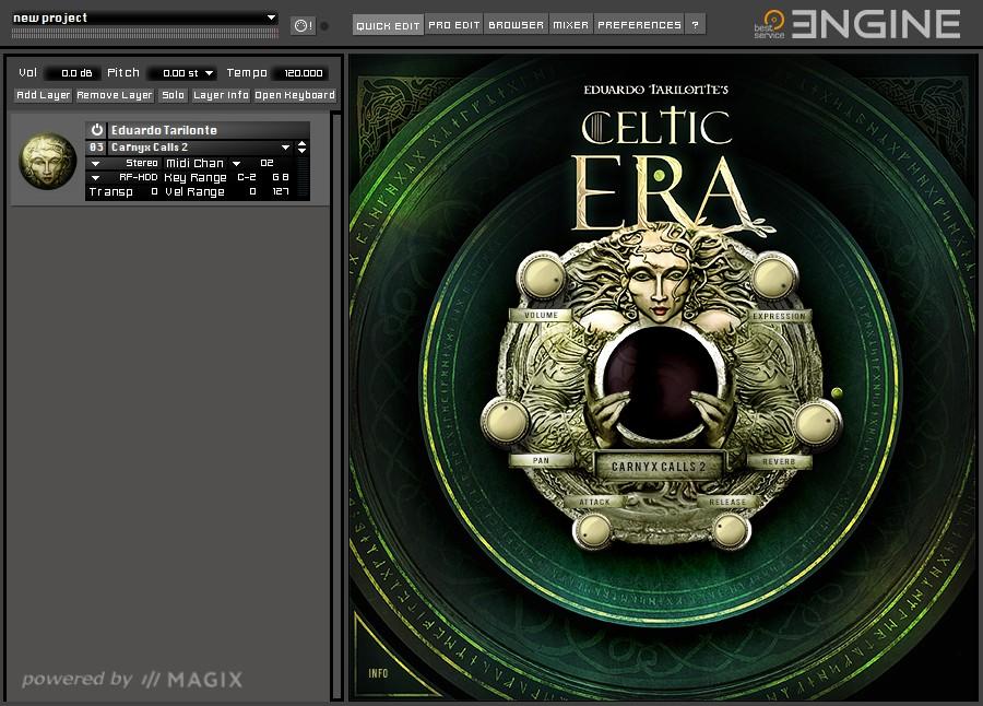 Celtic Era GUI Screen 1