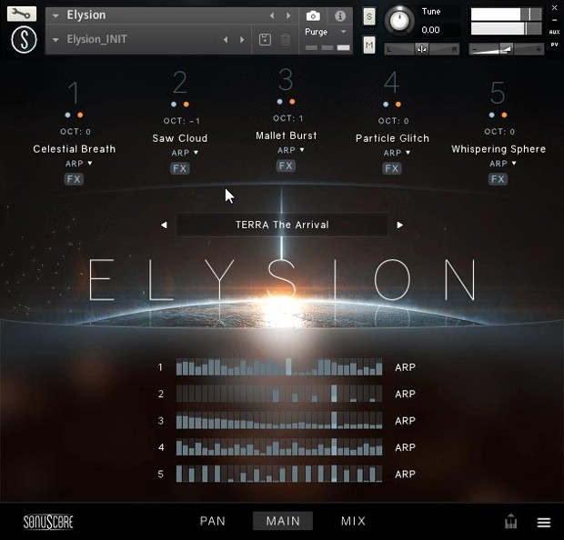 Elysion Main GUI