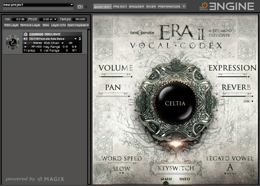 Era II Vocal Codex GUI