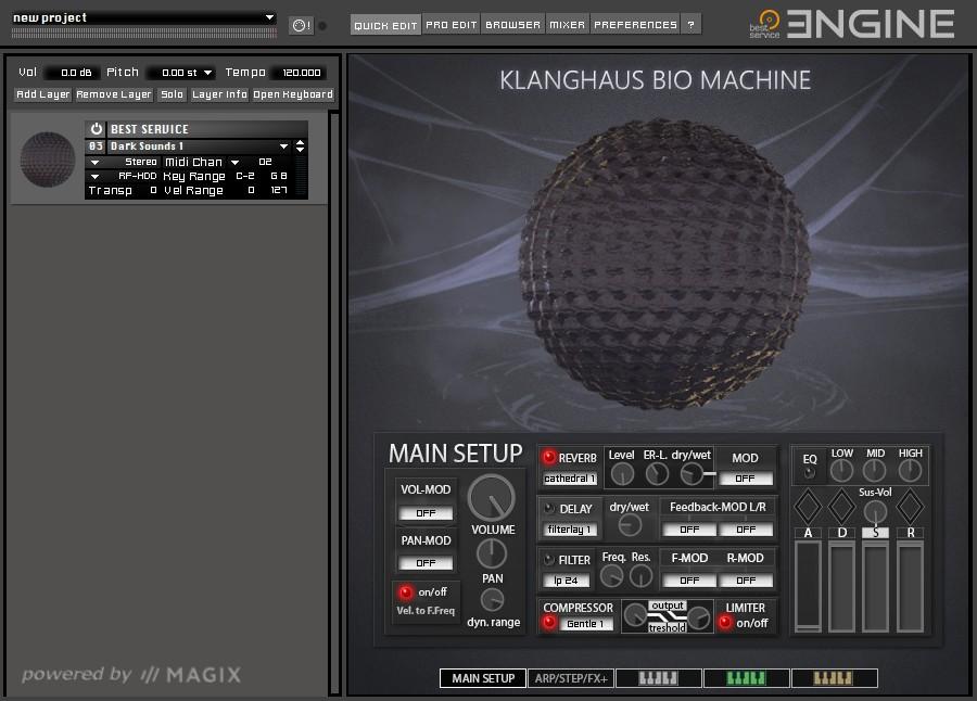 Klanghaus Bio Machine GUI