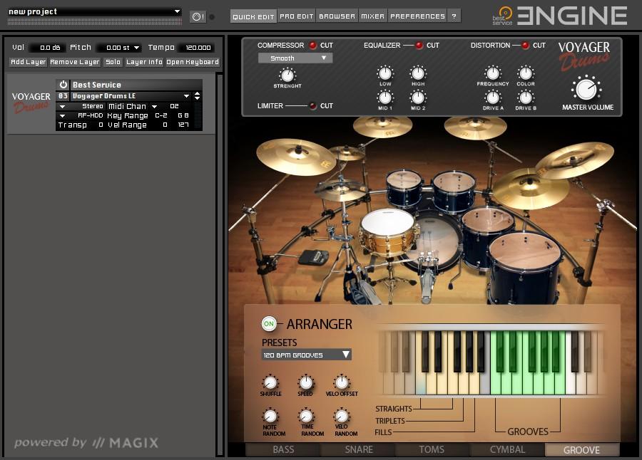 Voyager Drums LE GUI