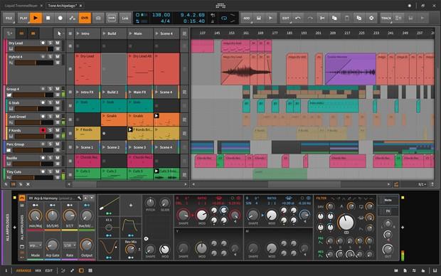 Bitwig Studio Main GUI