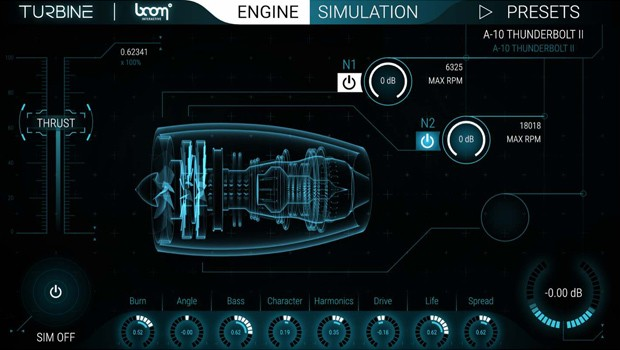 Turbine Main GUI Screen