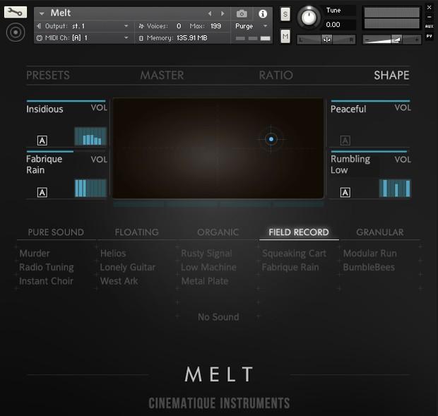 Melt UI Screen Two