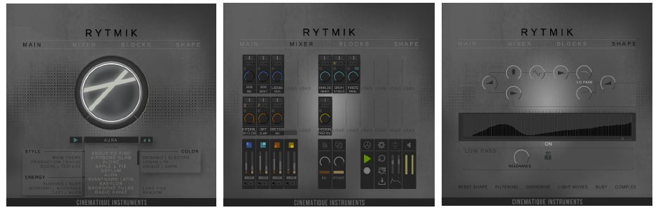 Rytmik GUI Screen